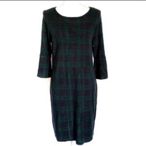 NY Collection Tartan Plaid Sweater Dress
